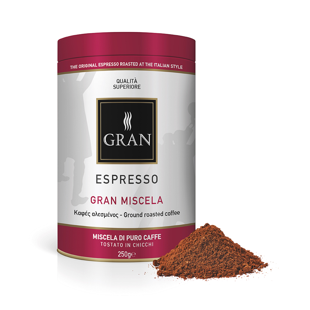 Gran_Espresso_GranMiscela_Ground_coffee_can_250gr_GiorgioPietri