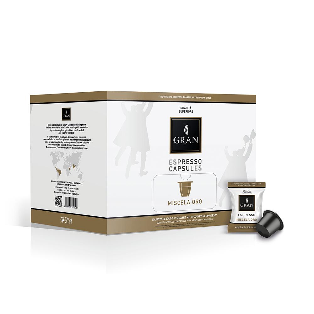 Gran_Espresso_MiscelaOro_Capsule_Nespresso_GiorgioPietri_Box_100pcs