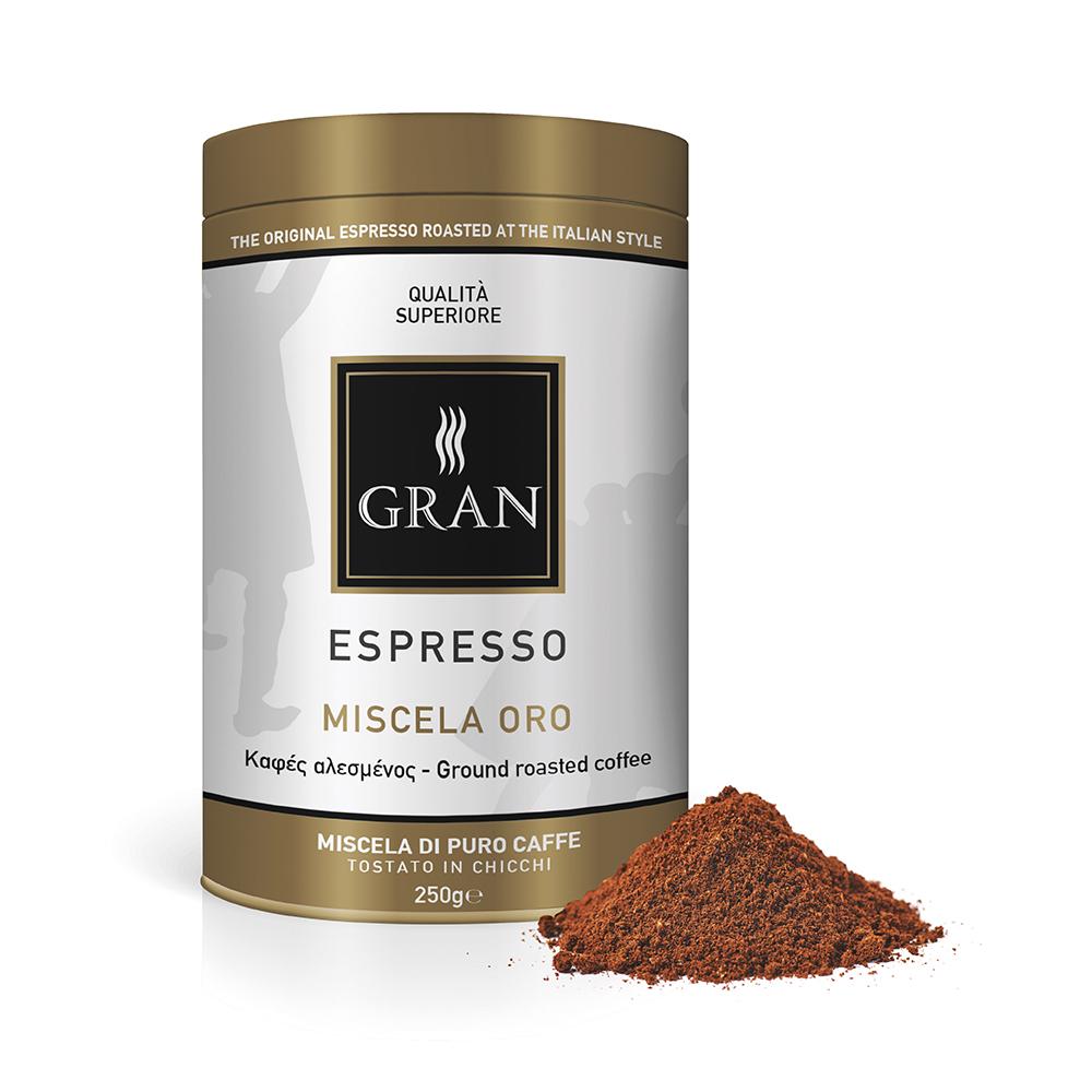 Gran_Espresso_MiscelaOro_Ground_coffee_can_250gr_GiorgioPietri