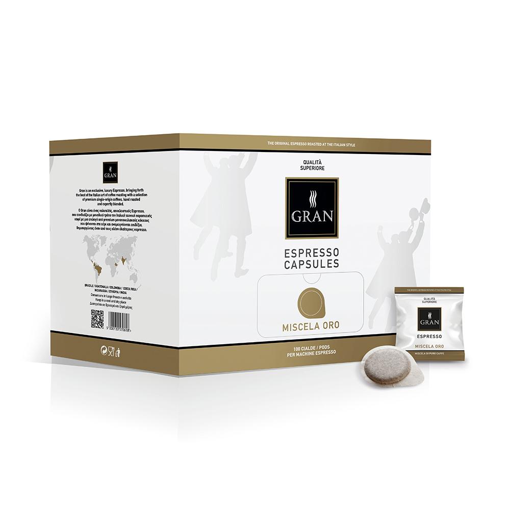Gran_Espresso_MiscelaOro_Pods_Ese_GiorgioPietri_Box_100pcs