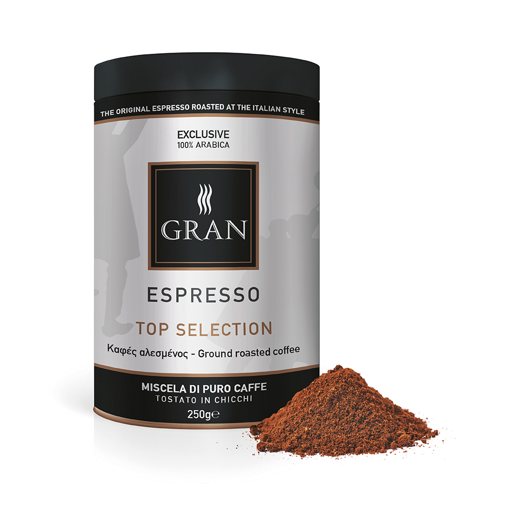 Gran_Espresso_TopSelection_Ground_coffee_can_250gr_GiorgioPietri